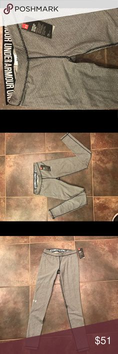 UNDERARMOUR BLK/GRAY DESIGNER EXERCISE PANTS S/MP NWT 💞 UNDERARMOUR BLK/GRAY DESIGNER EXERCISE PANTS Sz S/MP💞. Workout in Style!!!!  Gorgeous! Under Armour Pants