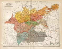Map of the German dialects, 1894