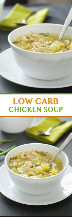 Super Easy Chicken Soup - this soup is AMAZING! So full of delicious flavors {Paleo, Gluten Free, Low Carb}