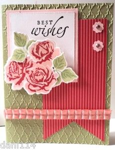 Best Wishes Roses Birthday or Mother's Day Card Kit | eBay