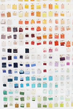 Paint Chip Wall-- maybe I should do this with my collection.