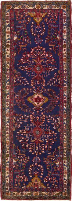 Navy Blue 3' 8 x 10' 4 Liliyan Persian Runner Rug | Persian Rugs | eSaleRugs