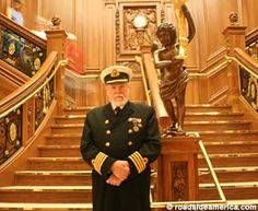 The Captain of the RMS Titanic attraction.