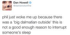 Dan's profile pic represents his mood in this tweet