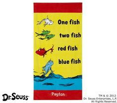 Pottery Barn Kids has a few Dr. Seuss design beach towels, this is on sale for $15 currently
