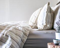 Parachute Home- best bedding in town! Linen Duvet Cover Set in Sand.