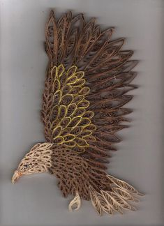 Quilled Eagle by ~LadyDracos on deviantART Quilling Images, Paper Quilling Designs, Quilling Paper Craft, Quilling Patterns, Quilling Ideas, Rolled Paper Art, Quilled Creations, Origami Bird, Paper Roll Crafts
