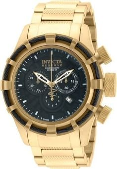 Invicta Mens 19522 Bolt Quartz Chronograph Black Dial Watch ** You can find more details by visiting the image link.