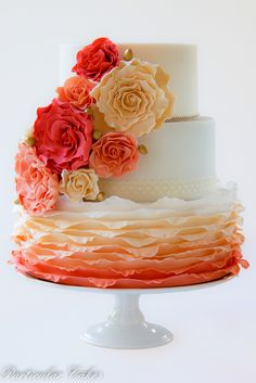 Sweet And Fun Ideas Ombre Wedding Cakes ❤ See more…