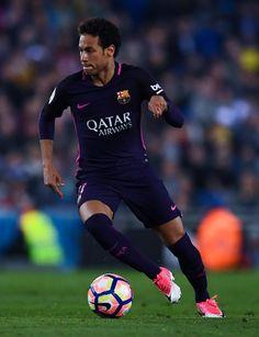 of FC Barcelona runs with the ball during the La Liga match between RCD Espanyol and FC Barcelona at the RCDE Stadium on April 2017 in Barcelona, Spaain. - RCD Espanyol v FC Barcelona - La Liga Barcelona Catalonia, Fc Barcelona, Rcd Espanyol, Just A Game, Neymar Jr, Soccer, Sporty, Running, Neymar Football
