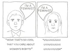 """Reactions to """"I'm a feminist""""."""