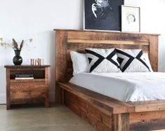 reclaimed wood bed frame storage drawers bed frame and headboard wood beds and reclaimed wood beds