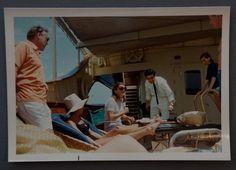 "Jackie Kennedy Onassis on the yacht ""The Christina"""