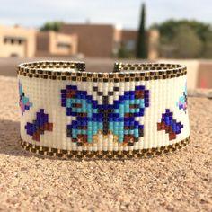Butterflies Bead Loom Bracelet Bohemian Boho Chic Gifts for