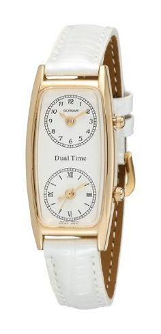 Gotham Women's Gold-Tone Dual Time Zone Leather Strap Watch # GWC15091GW Gotham. $49.95
