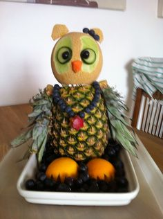 Fruit art fruit owl