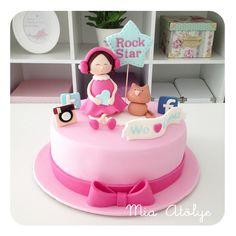 Birthday cake 1 Tier Cake, Tiered Cakes, Cupcake Cookies, Cupcakes, Cake Designs For Kids, Baby Shower Cakes, Cute Kids, Birthday Cake, Desserts