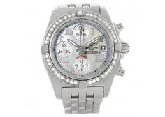 Breitling Windrider Cockpit MOP Diamond Automatic Watch A13358