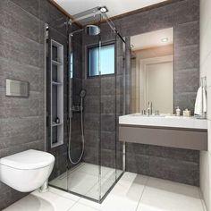 A new generation of shower head models and shower sets especially .- Modern Bathroom by VERO CONCEPT MİMARLIK – Symphony Villa - Modern Bathrooms Interior, Bathroom Interior Design, Modern Interior Design, Shower Set, Shower Heads, Small Bathroom, Villa, Shower Cabin, Shower Designs