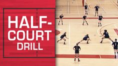 Half-court drill for creative ball control training