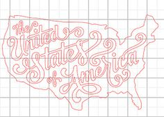 USA Map cut - Jude Landry by julie_stamps, via Flickr