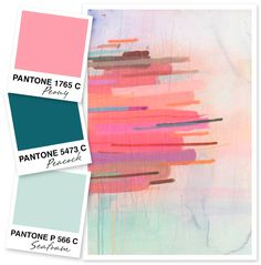 These are my favorite colors for spring. But more of a coral or baby pink. Pink, Teal and Seafoam Color Palette