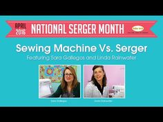 Sergers can rock out some pretty awesome things that a sewing machine can't. And vice versa, a sewing machine can do a lot that a serger can't do. We sewists love having both in our rooms! Check this Sewing Machine vs. Serger video out! - YouTube