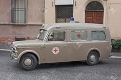 Vintage italian ambulance Fiat 1100 exposed in festival Fiera di San Rocco on November 2011 in Faenza, RA, Italy - Buy this stock photo and explore similar images at Adobe Stock Ambulance, Old Trucks, Fire Trucks, San Rocco, Automobile, Fiat Cars, Emergency Medical Services, Rescue Vehicles, Cool Vans