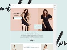 Homepage Concept for take on by talented Olia Gozha  #fashion #fashionista #uitrends #interface #instaweb #inspira #inspiration #creativity #creative #www #html #css #awwwards #css #pixels #pixelovers #layout #uxd #composition #typography #cursive #designer #design #pastel #colorpalette #fresh #uidaily #uifeed #uxdaily