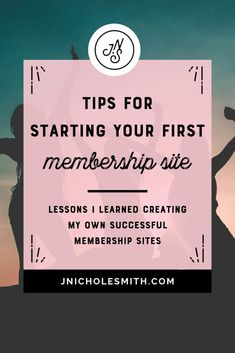 How I started a successful membership site Creating A Business, Growing Your Business, Business Tips, Online Business, Business Planning, Sales Strategy, Digital Marketing Strategy, Social Marketing, Business Education