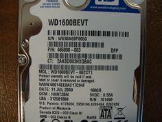 WESTERN DIGITAL WD1600BEVT-60ZCT1 DCM:HANT2BN SATA 160GB - Effective Electronics