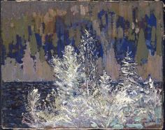 Tom Thomson Catalogue Raisonné | Frost-Laden Cedars, Big Cauchon Lake, Winter 1914–15 (1914-1915.06) | Catalogue entry