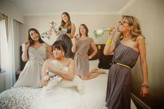 dc wedding fun bridesmaids Kirsten Marie Photograpy 550x365 Bright and Modern DIY Wedding Ceremony in DC: Ashley + Frankie