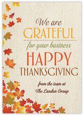 Business Imprint Thanksgiving Card