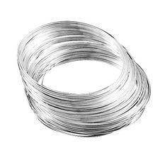 No of Pieces 20 xMain Colour SilverMaterial Stainless SteelSize 1mmShape Memory Wire Bracelet