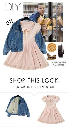 """DIY Halloween Costume: Eleven from Stranger Things"" by xxellaxxx ❤ liked on Polyvore featuring Converse, halloweencostume and DIYHalloween"