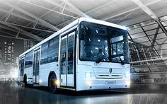 Download wallpapers NefAZ 5299, 4k, russian bus, 2017, buses, passenger transport