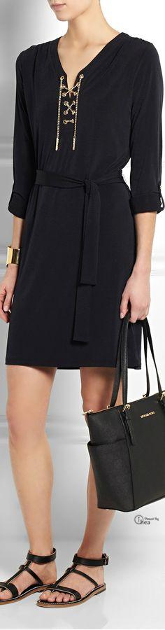 Michael Kors ● Black Lace-up dress