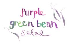 They had the most beautiful purple green beans at my little mountain farmers market this week. Purple on the outside, green on the inside- gorgeous! When you cook them, they turn green, so I just sautee´ them very quickly to retain some of the purple. I tossed them with a handful of chopped fresh basil, feta and pepitas (pumpkin seeds, but you could use any nuts). Happy summer weekend! By Erin Gleeson for The Forest Feast