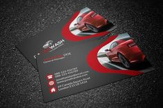 Car Wash Business Card - Business Cards