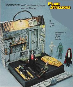 "mego lots toys | absolutely love the Remco 3 3/4"" Universal Mini Monster figures ..."