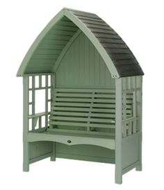 Blenheim Arbour with lead roof in Sage