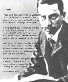 a biography of rainer maria rilke a bohemian austrian poet and novelist Joanna macy's reading of rilke offers a middle way in an era of ecological  devastation  elegies of the bohemian-austrian poet rainer maria rilke (1875- 1926)  macy is a buddhist scholar, environmental activist, and author  on the  first day, macy gave us a brief background on the life of the poet.
