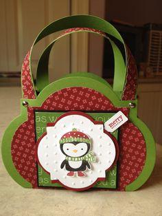 No Peeking & Window Frames Gift Bag - Catherine Loves Stamps