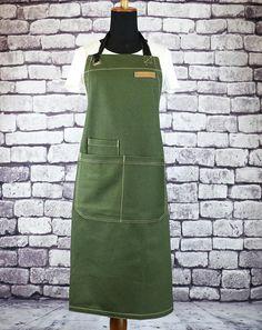 Denim apron, cafe apron, barista apron, BBQ Apron, waiter's uniform, chef apron, waiter apron, made in Canada