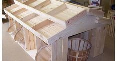 FARMERS MARKET IDEA.Wooden Crate Floor Display, Wood Crates, Wood Display, Produce Displays, Craft Displays