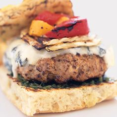 Sicilian Burgers - Delish.com  -  For the complete recipe, simply click on the photo.  ENJOY!