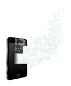 Smartphone Mailing royalty-free stock vector art