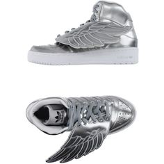 804c297e337 Jeremy Scott Adidas High-tops   Trainers (£136) ❤ liked on Polyvore  featuring shoes