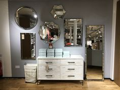 Mirror wall #display #visualmerchandising #westelm